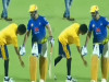 Cricket Image for Net Bowler Takes Blessing To Csk Captain Ms Dhoni Watch Video