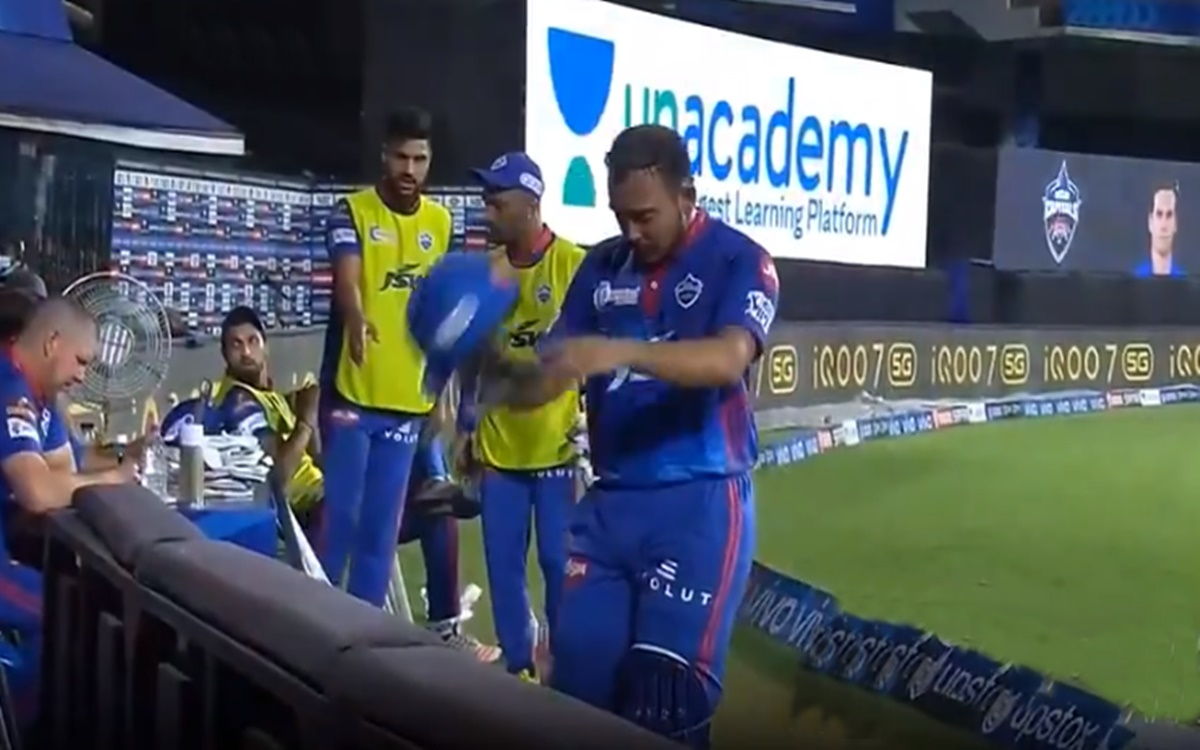 Cricket Image for Ipl 2021 Prithvi Shaw Angry With Rishabh Pant Mistake And Throw His Helmet After R
