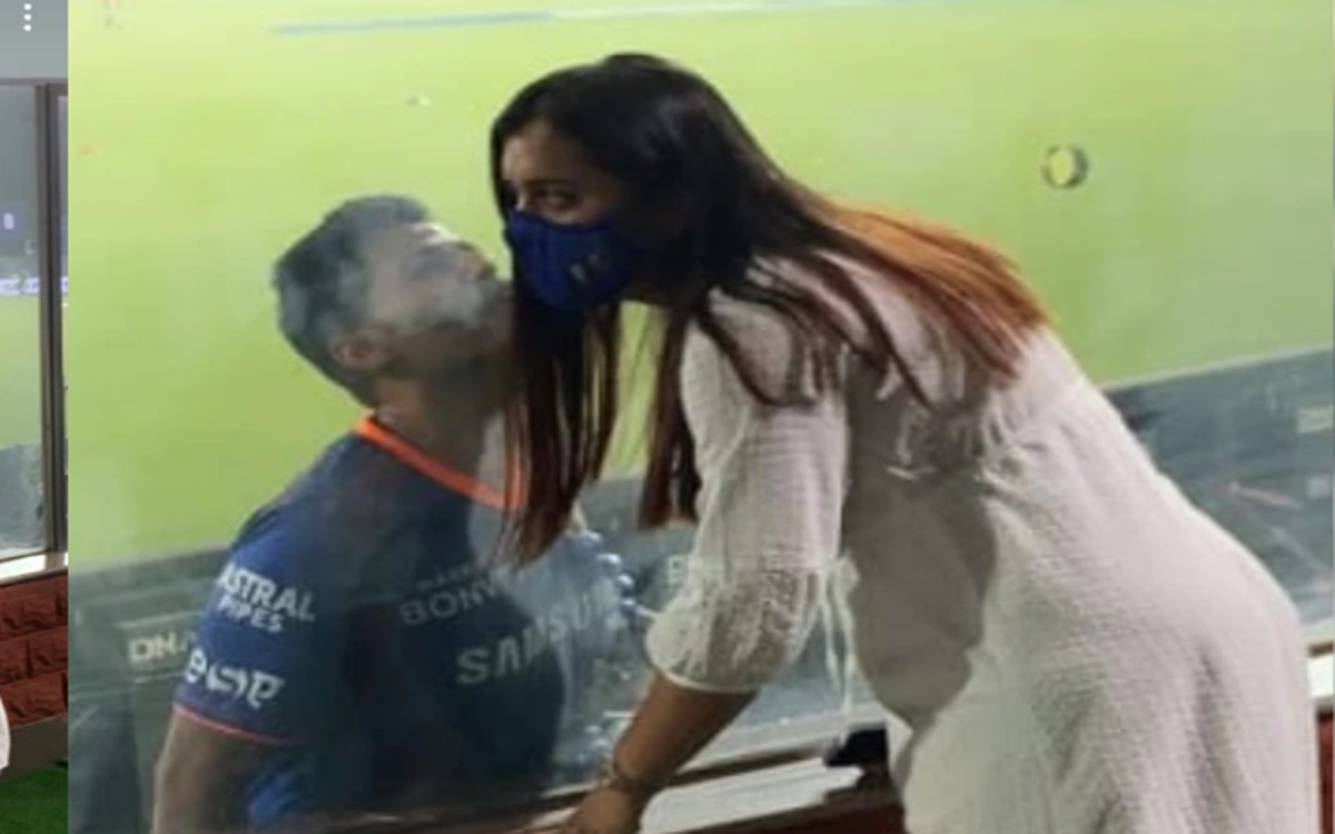 Cricket Image for Ipl 2021 Suryakumar Yadav Kiss His Wife In Unique Way