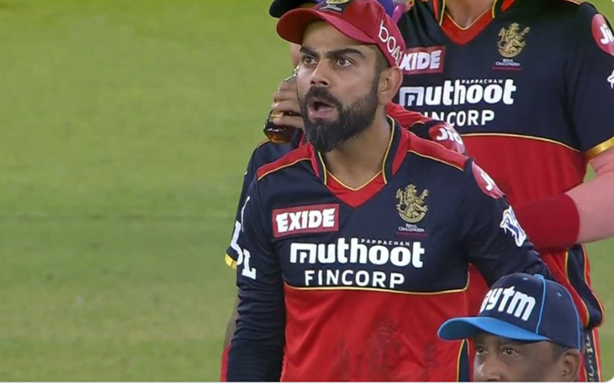 Cricket Image for Ipl 2021 Virat Kohli Reaction After Rishabh Pant Given Not Out