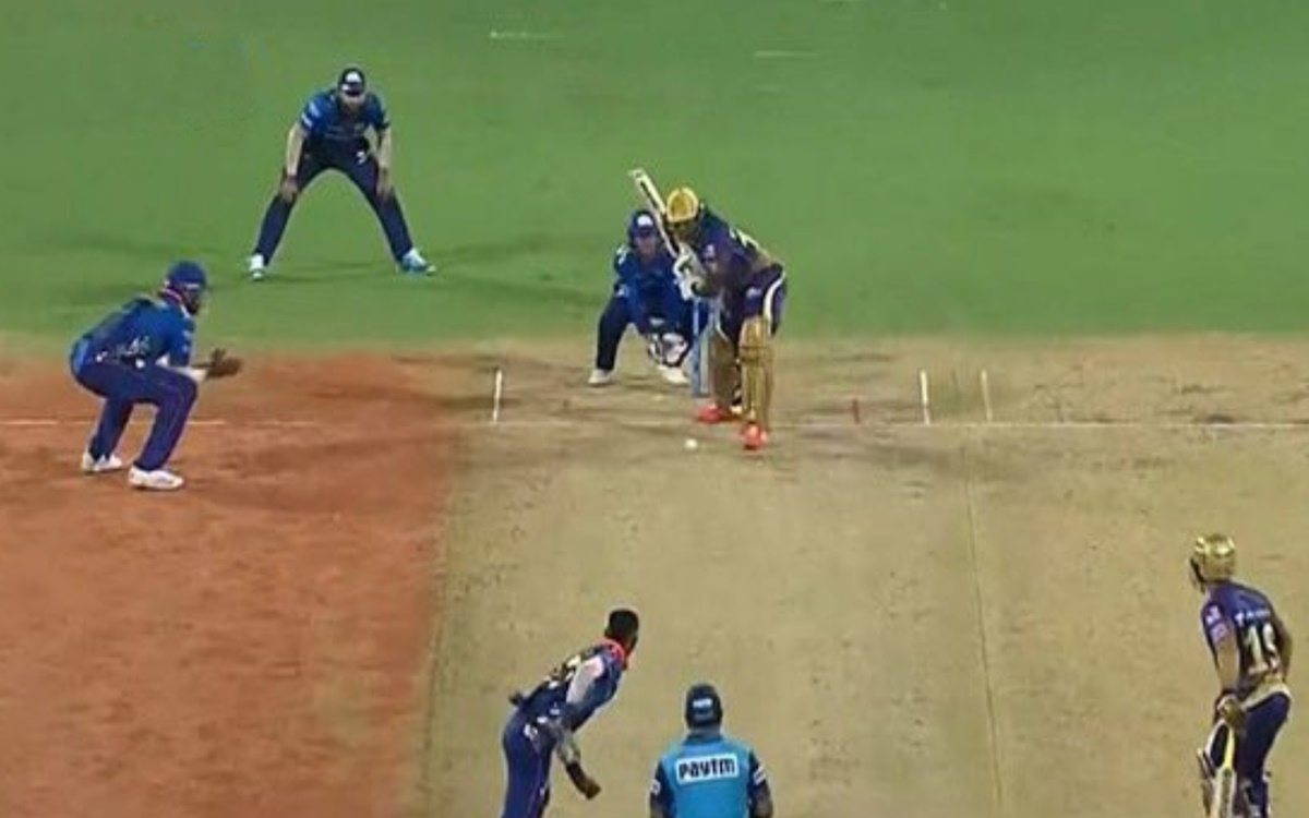 Cricket Image for Rohit Sharma Sets A Test Fielding Against Andre Russell