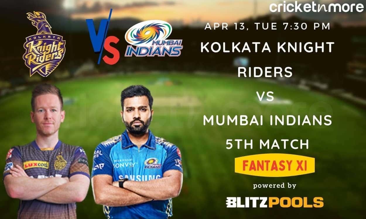 Kolkata Knight Riders vs Mumbai Indians, 5th Match IPL 2021 – Blitzpools Prediction, Fantasy XI Tips