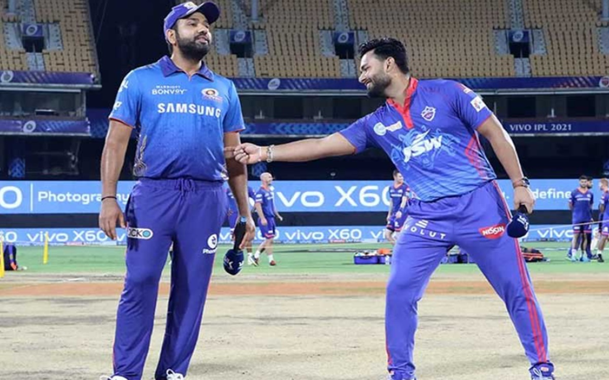 Cricket Image for Mi Vs Dc Rishabh Pant And Rohit Sharma Funny Moments During Toss