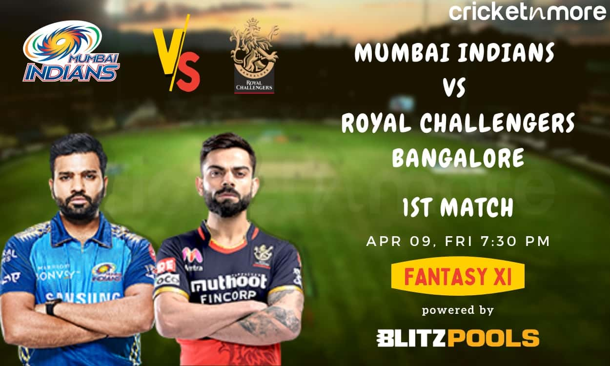 Mumbai Indians vs Royal Challengers Bangalore, 1st Match – Blitzpools Prediction, Fantasy XI Tips &