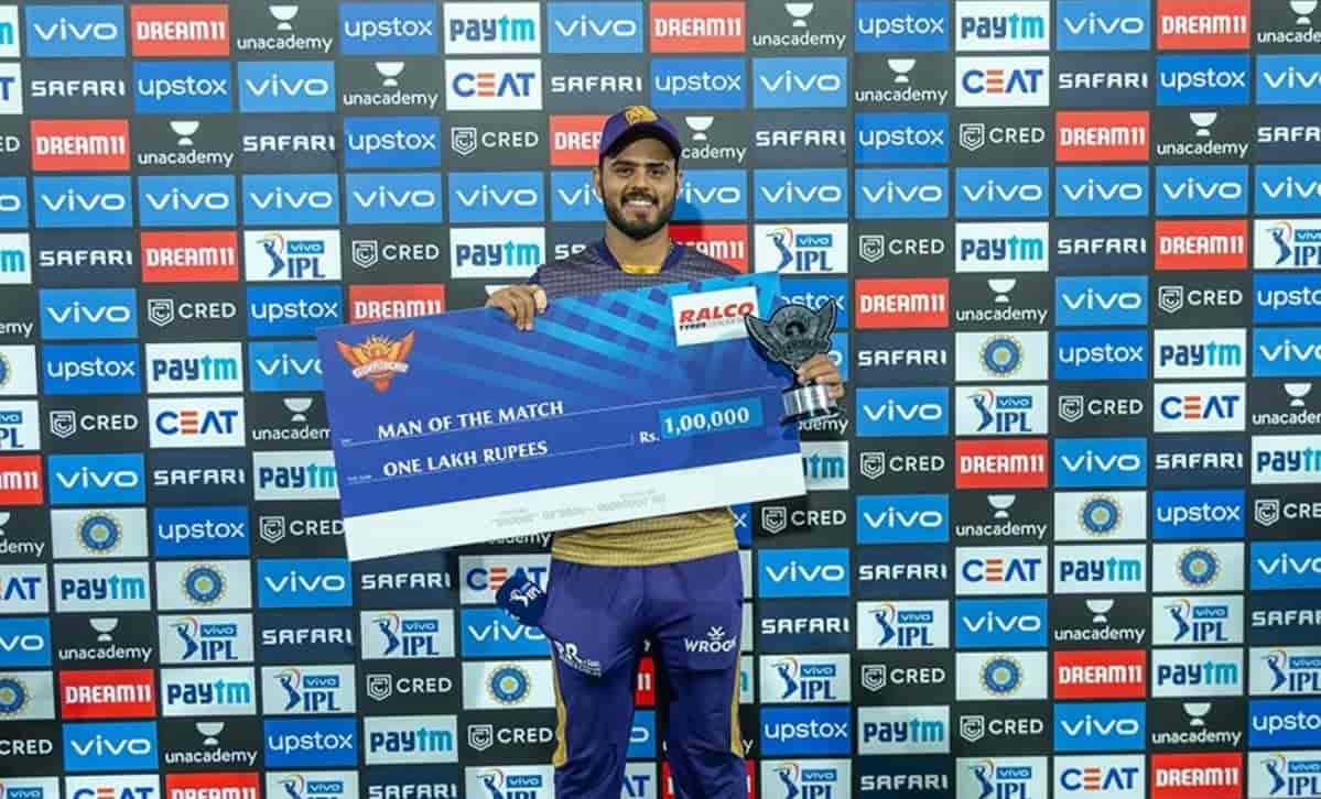 Nitish Rana Man of the Match
