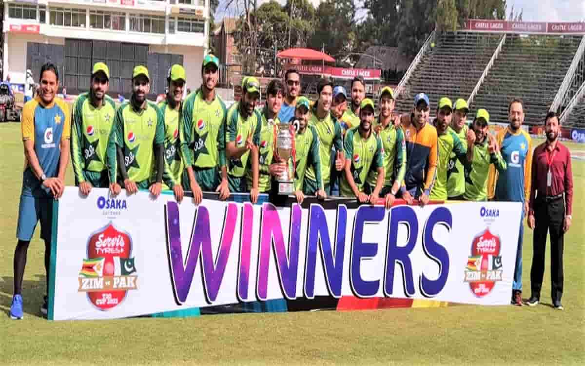 Cricket Image for Pakistan Beat Zimbabwe By 24 Runs In The Third T20 Match Captured The Series 2 1