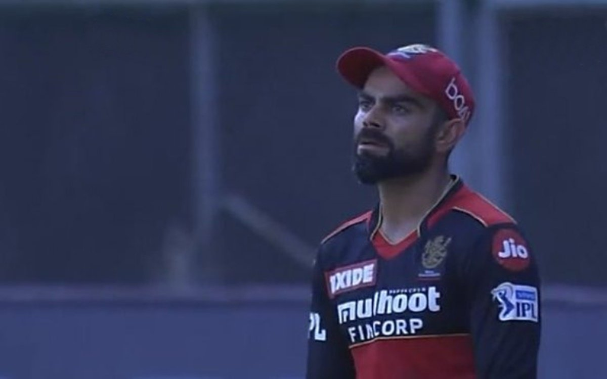 Cricket Image for Rcb Vs Csk Ipl 2021 Virat Kohli Reaction When Ravindra Jadeja Hits Harshal Patel F
