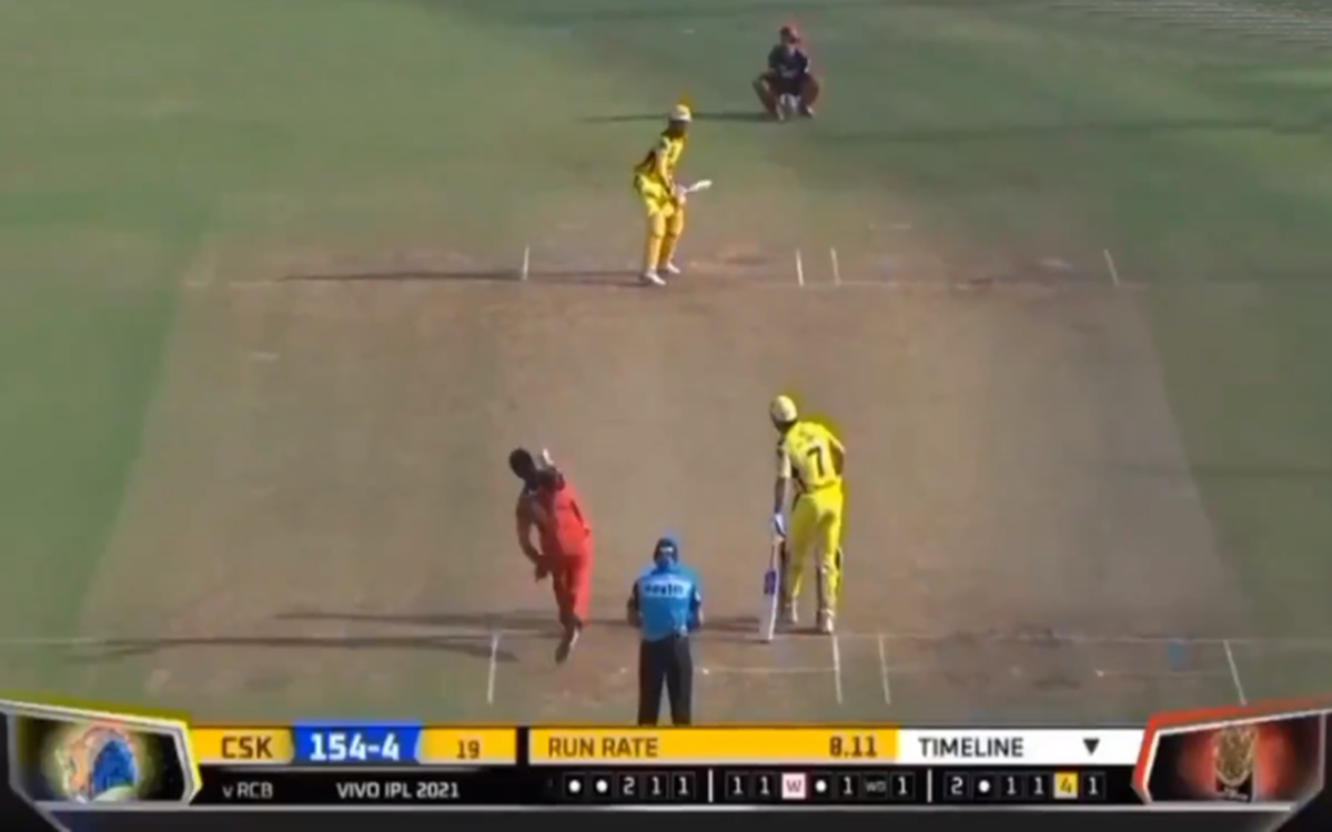 Cricket Image for Rcb Vs Csk Ravindra Jadeja Smashes 37 Runs In Harshal Patel Over Watch Video