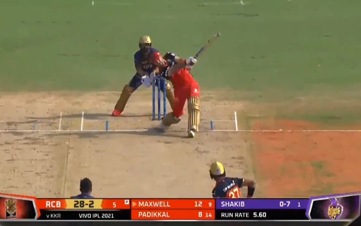 Cricket Image for Rcb Vs Kkr Cracking Six By Glenn Maxwell Watch Video