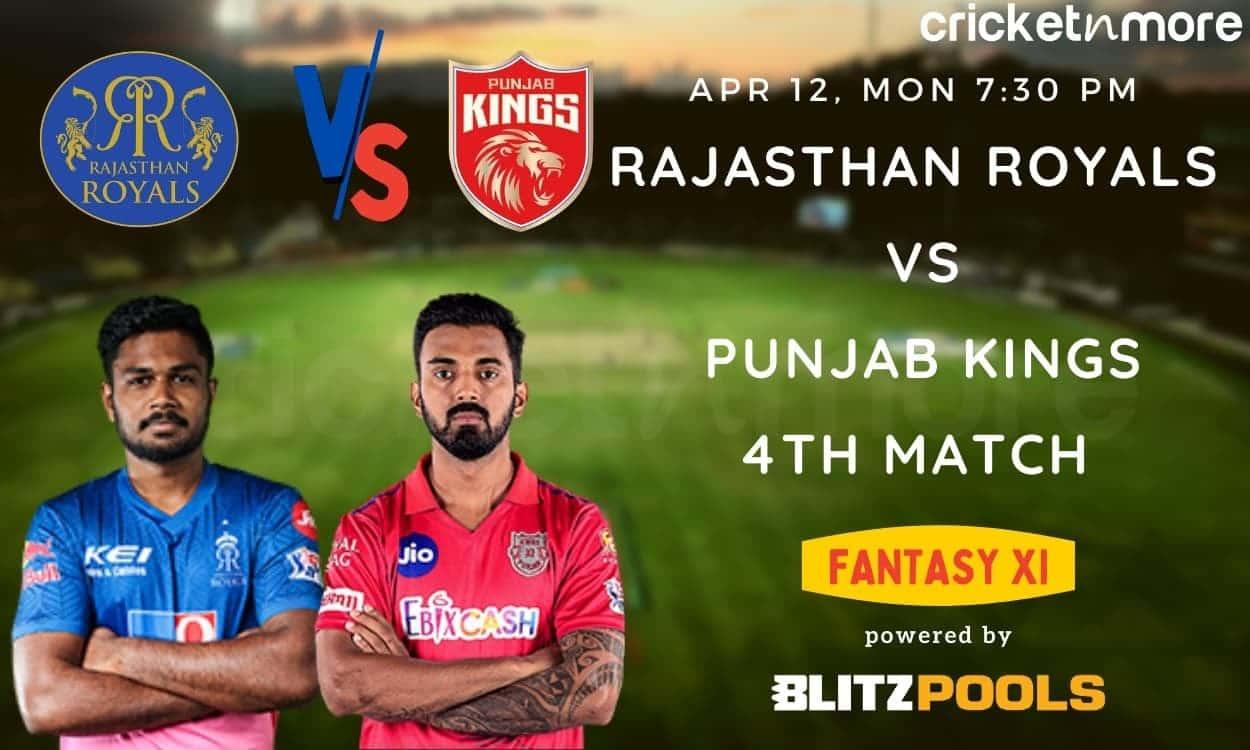 Rajasthan Royals vs Punjab Kings, 4th Match IPL 2021 – Blitzpools Prediction, Fantasy XI Tips & Prob