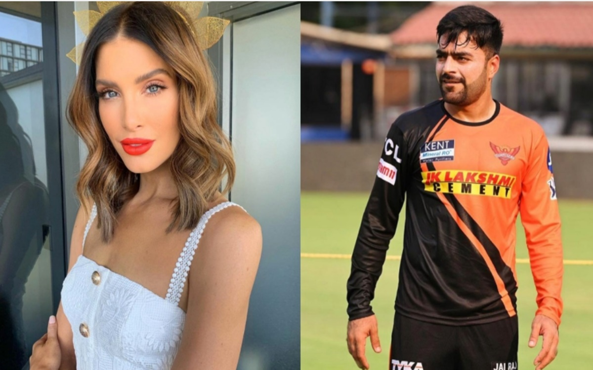 Cricket Image for Sunrisers Hyderabad Bowler Rashid Khan Engage In Banter With Ben Cutting Wife