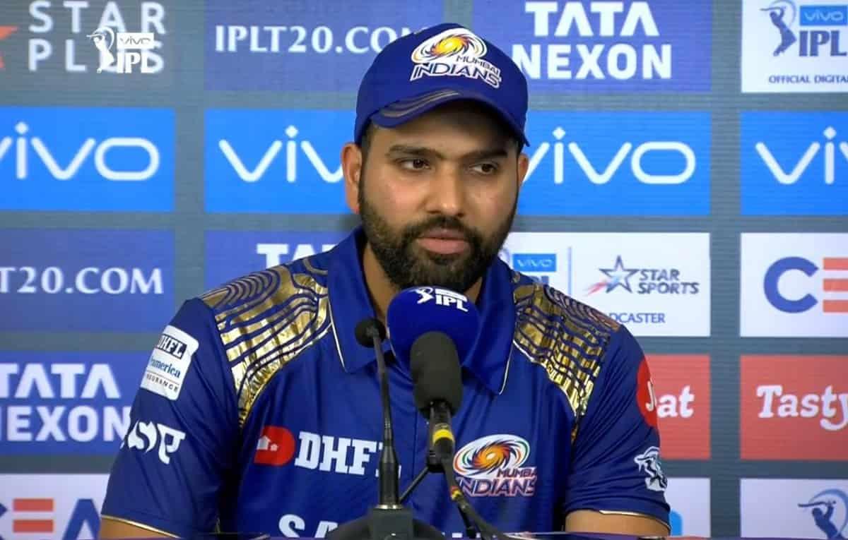 Cricket Image for IPL 2021: कप्तान रोहित शर्मा हुए निराश ,इसे ठहराया मुंबई इंडियंस की 9 विकेट से हार