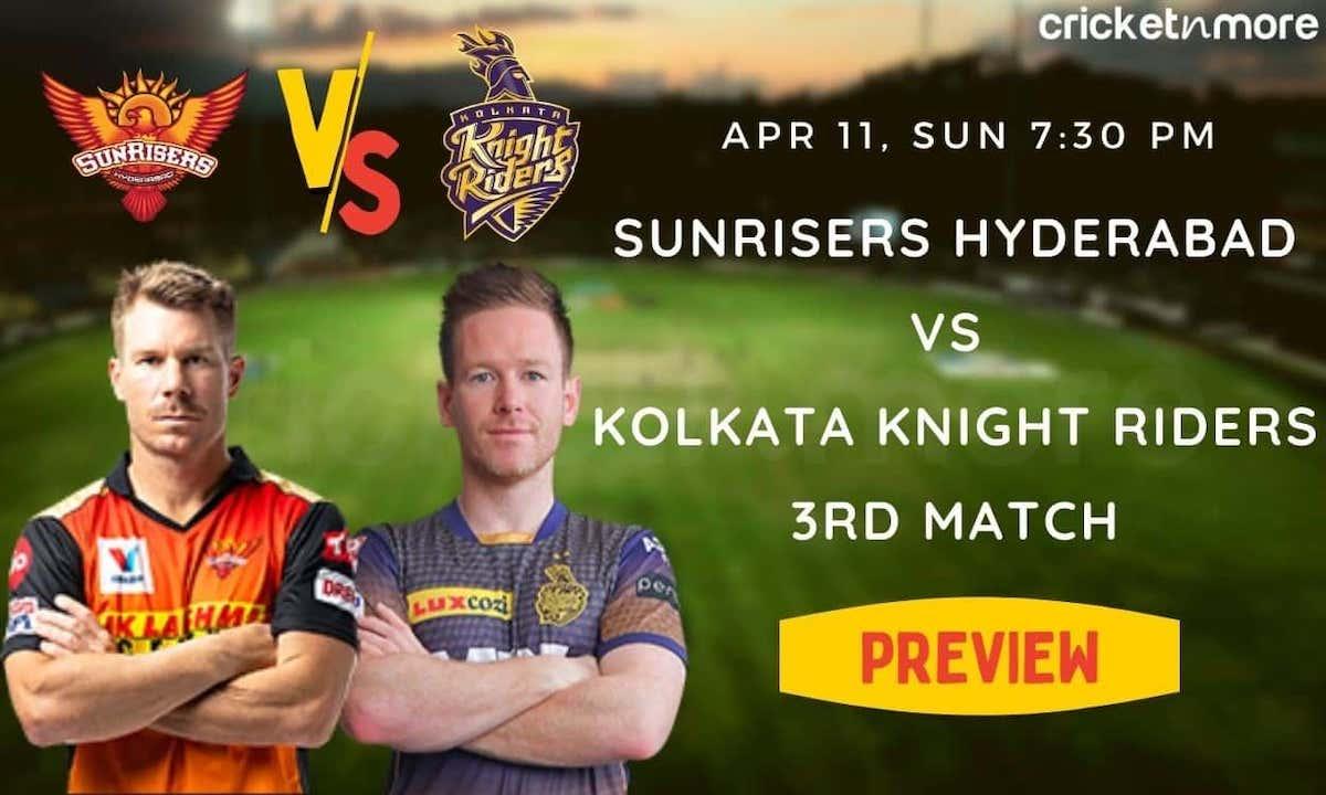 Cricket Image for IPL 2021, Match No.3 - SunRisers Hyderabad vs Kolkata Knight Riders (PREVIEW)