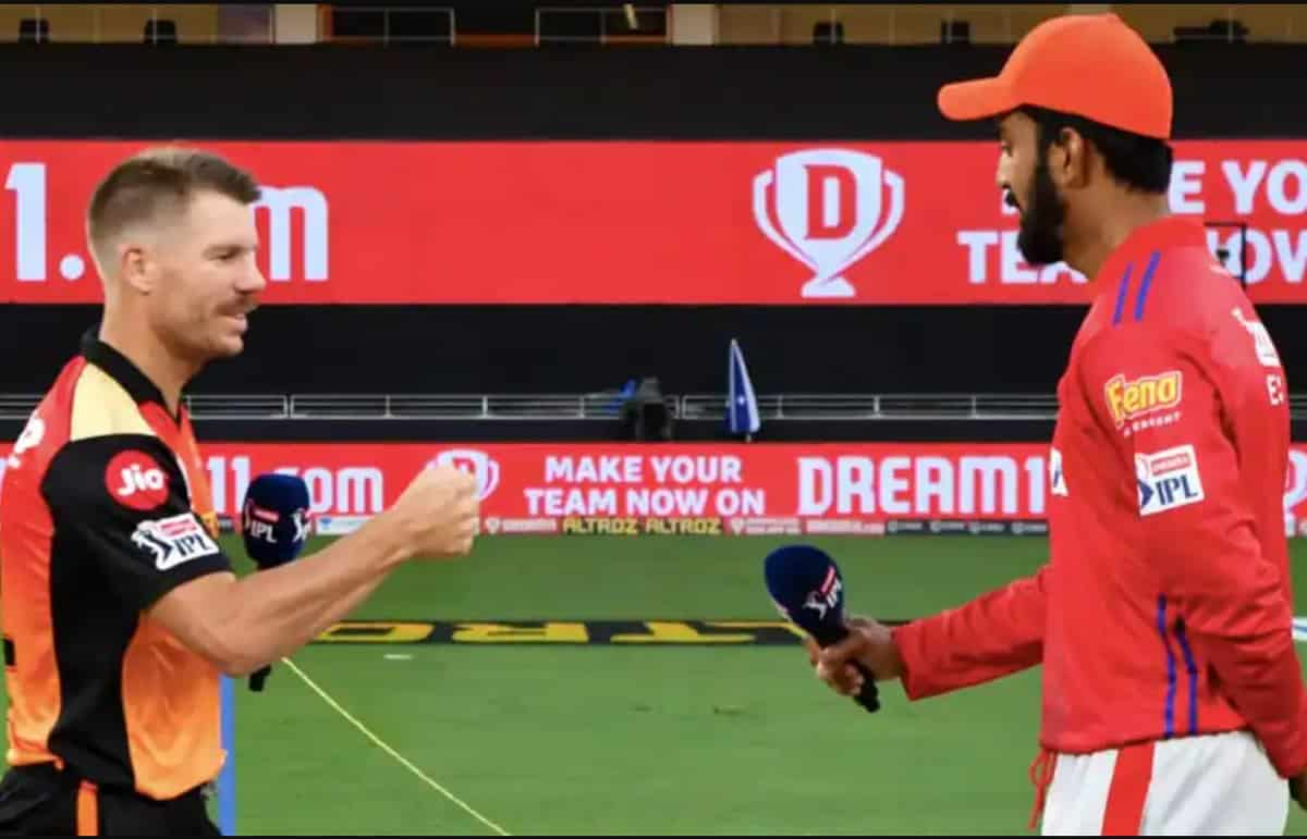 ipl 2021 Punjab kings opt to bat first against sunrisers hyderabad