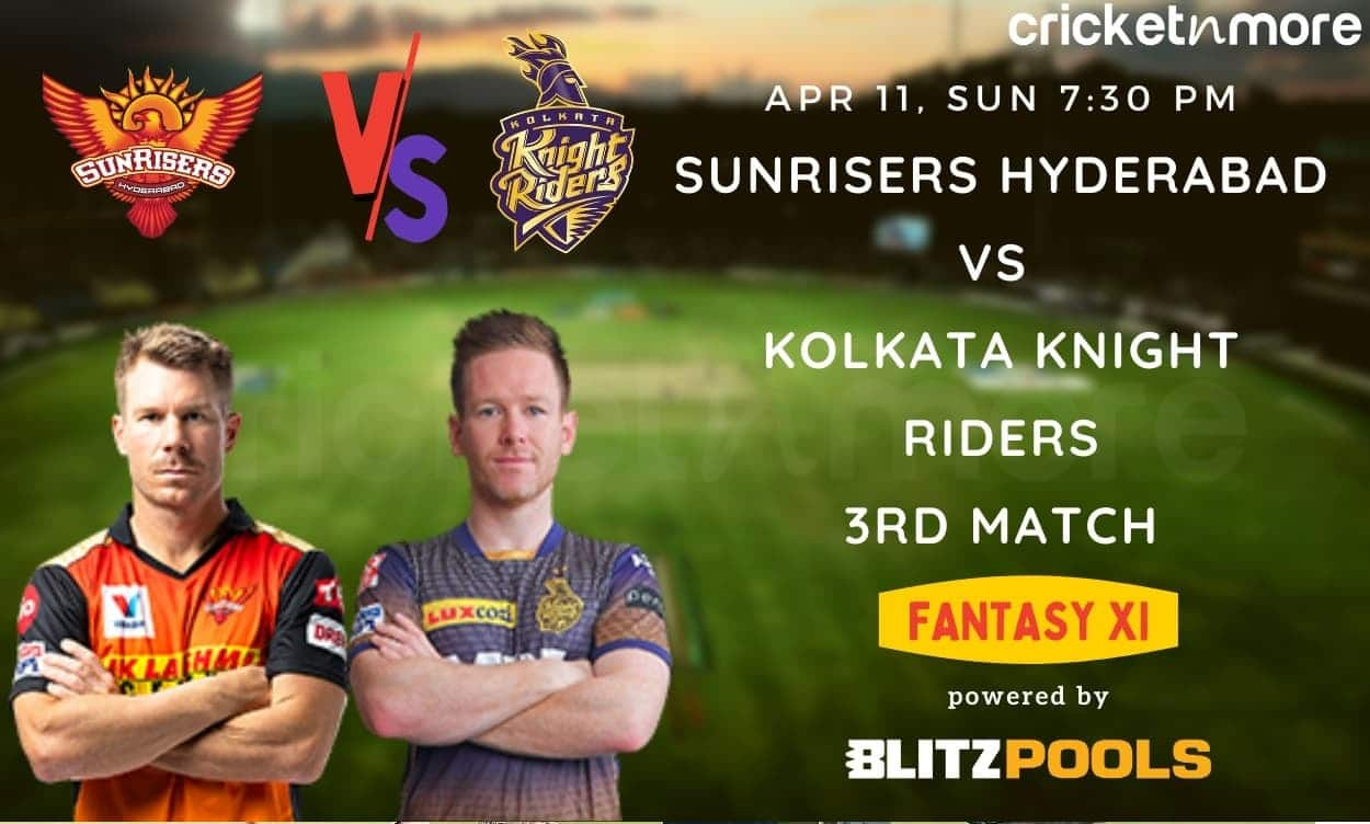Sunrisers Hyderabad vs Kolkata Knight Riders, IPL 2021 3rd Match – Blitzpools Prediction, Fantasy XI