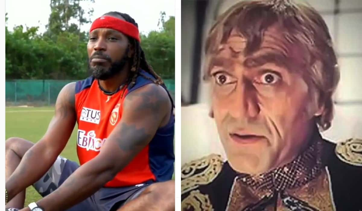 VIDEO Chris Gayle recreates the famous hindi movie dialogue from MR India