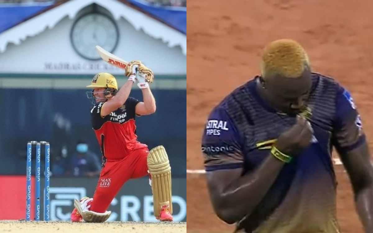 Cricket Image for VIDEO : एबी डी विलियर्स की सुनामी में बह गए आंद्रे रसल, 2 ओवर में 19 की इकॉनमी से