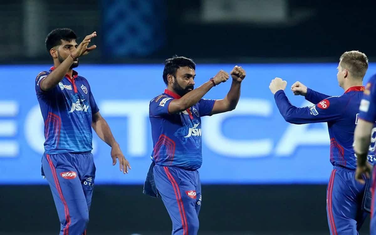Cricket Image for Amit Mishras Bowling Havoc On Mumbais Batsmen Delhi Capitals Got A Target Of Just