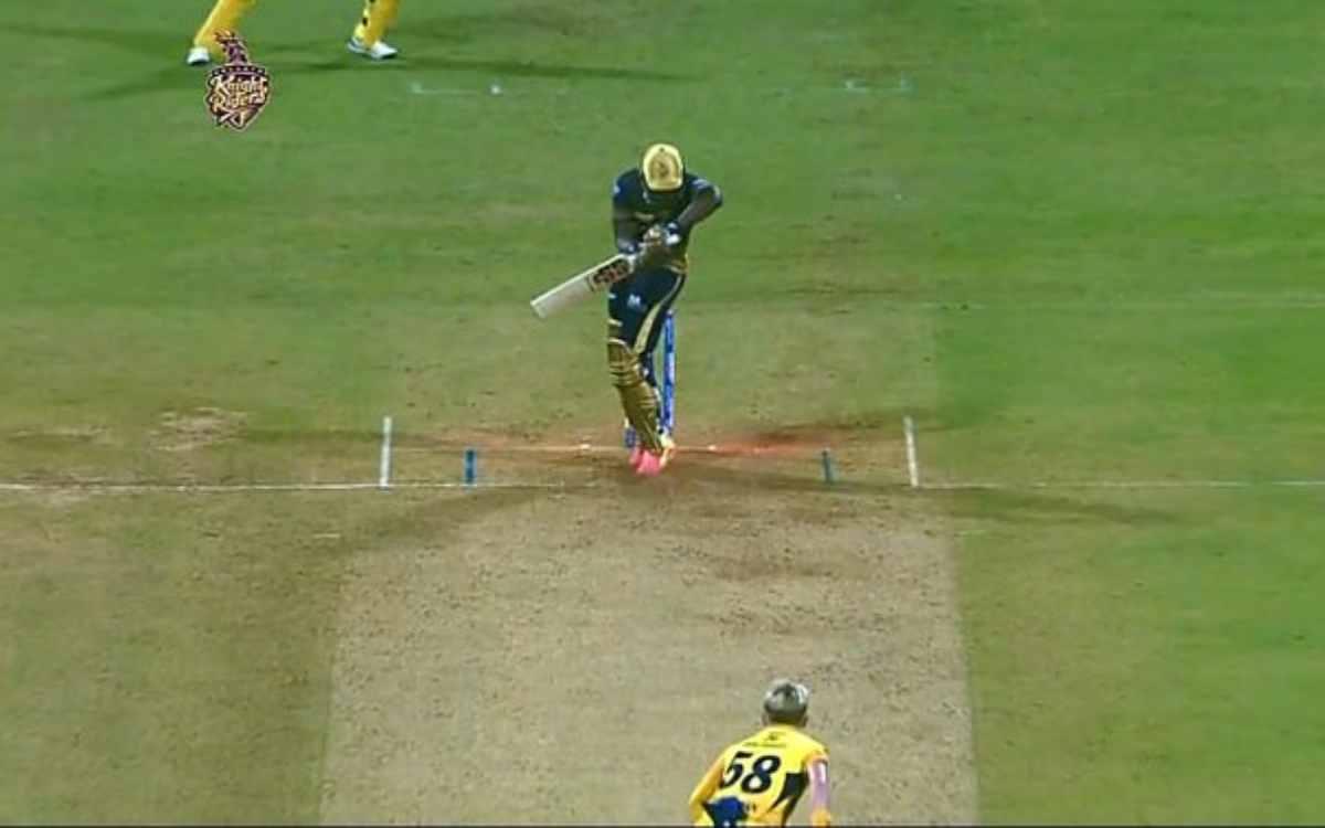 Cricket Image for VIDEO : खतरनाक आंद्रे रसल को सैम कुरेन ने दिया चकमा, फिफ्टी लगाने के बाद क्लीन बोल