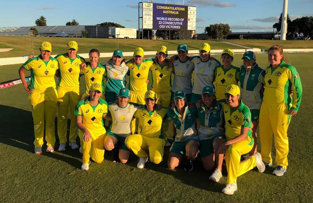 Cricket Image for Australia Women Break World Record As They Beat New Zealand In 1st ODI