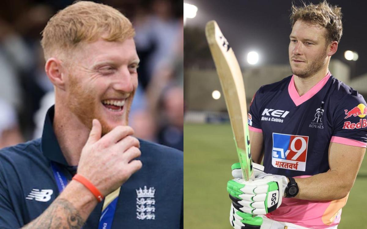 Cricket Image for Rajasthan Royals All Rounder Ben Stokes Make Fun Of David Miller Teeth