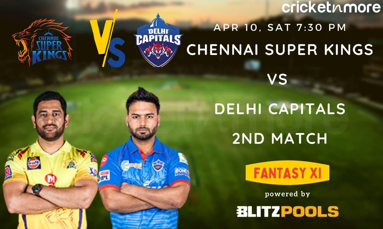 Cricket Image for Chennai Super Kings vs Delhi Capitals, IPL 2021 2nd Match – Blitzpools Prediction,