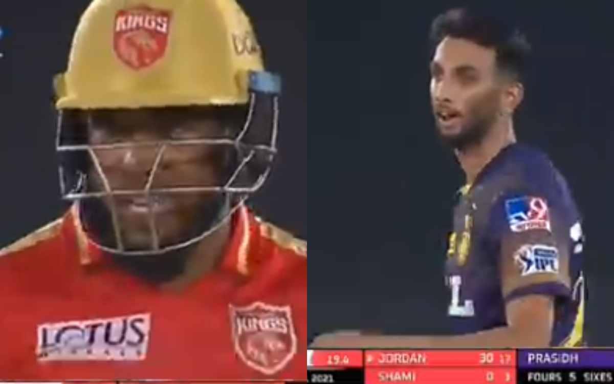Cricket Image for VIDEO : आखिरी ओवर में कृष्णा और जॉर्डन के बीच हुई तू-तू मैं-मैं, दो छक्के खाने के