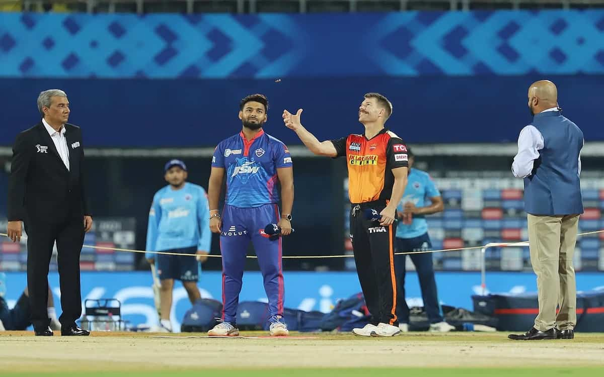 Cricket Image for Delhi Capitals Won The Toss Against Sunrisers Hyderabad And Rishabh Pant Decided T