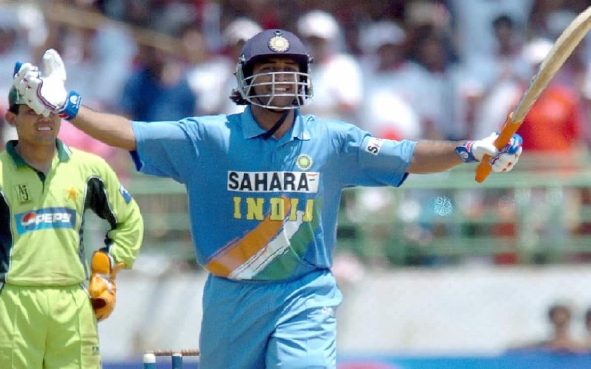 Cricket Image for Exactly 16 Years Ago, MS Dhoni Arrived With Ton Against Pakistan