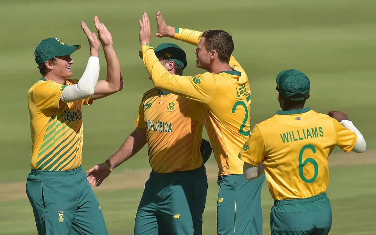 Cricket Image for SA vs PAK: George Linde Traps Pakistan As South Africa Level T20 Series