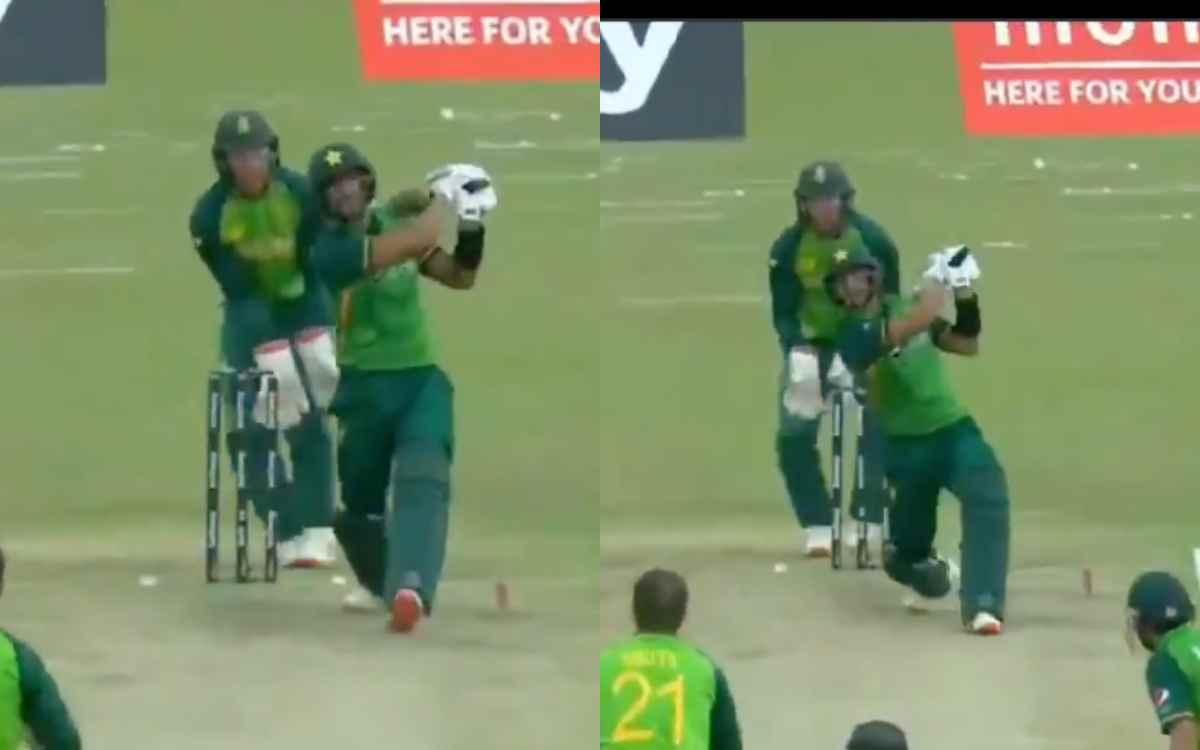 Cricket Image for VIDEO : हसन अली ने लगाए एक ओवर में 4 लंबे-लंबे छक्के, ऑलराउंडर की आतिशबाजी ने उड़ा
