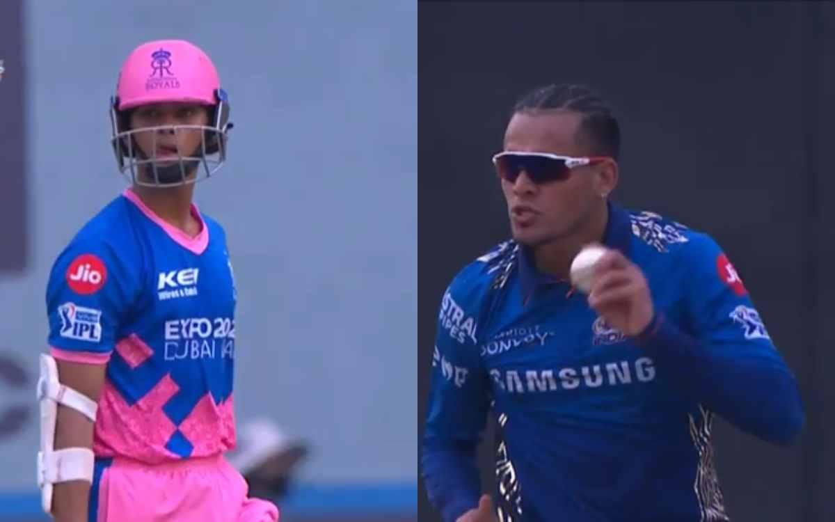 Cricket Image for VIDEO : 19 साल के यशस्वी को आउट करने के बाद राहुल चाहर ने दी गाली, आउट होने से पहल