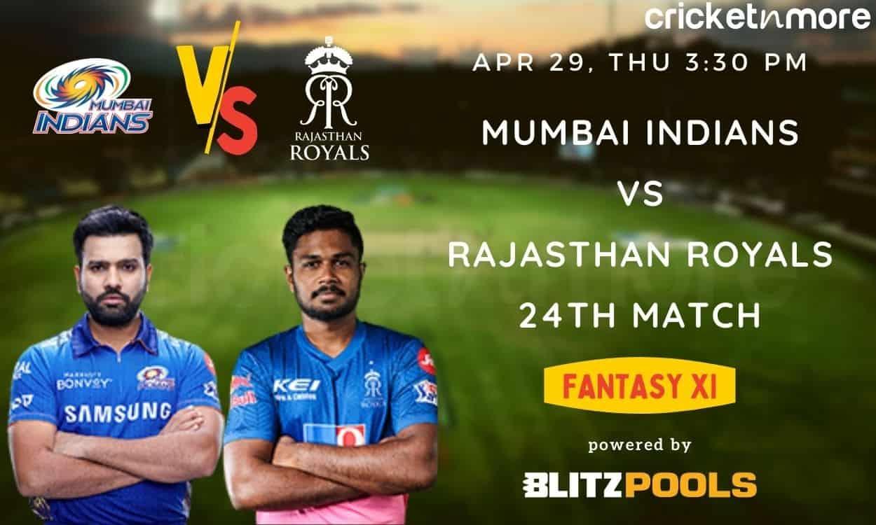 Cricket Image for IPL 2021, MI vs RR – Blitzpools Fantasy XI Tips, Prediction & Pitch Report
