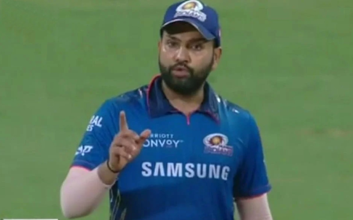 Cricket Image for Ipl 2021 Mumbai Indians Captain Rohit Sharma Stump Mic Video