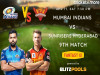 Cricket Image for IPL 2021, Mumbai Indians vs Sunrisers Hyderabad, 9th Match – Blitzpools Fantasy XI