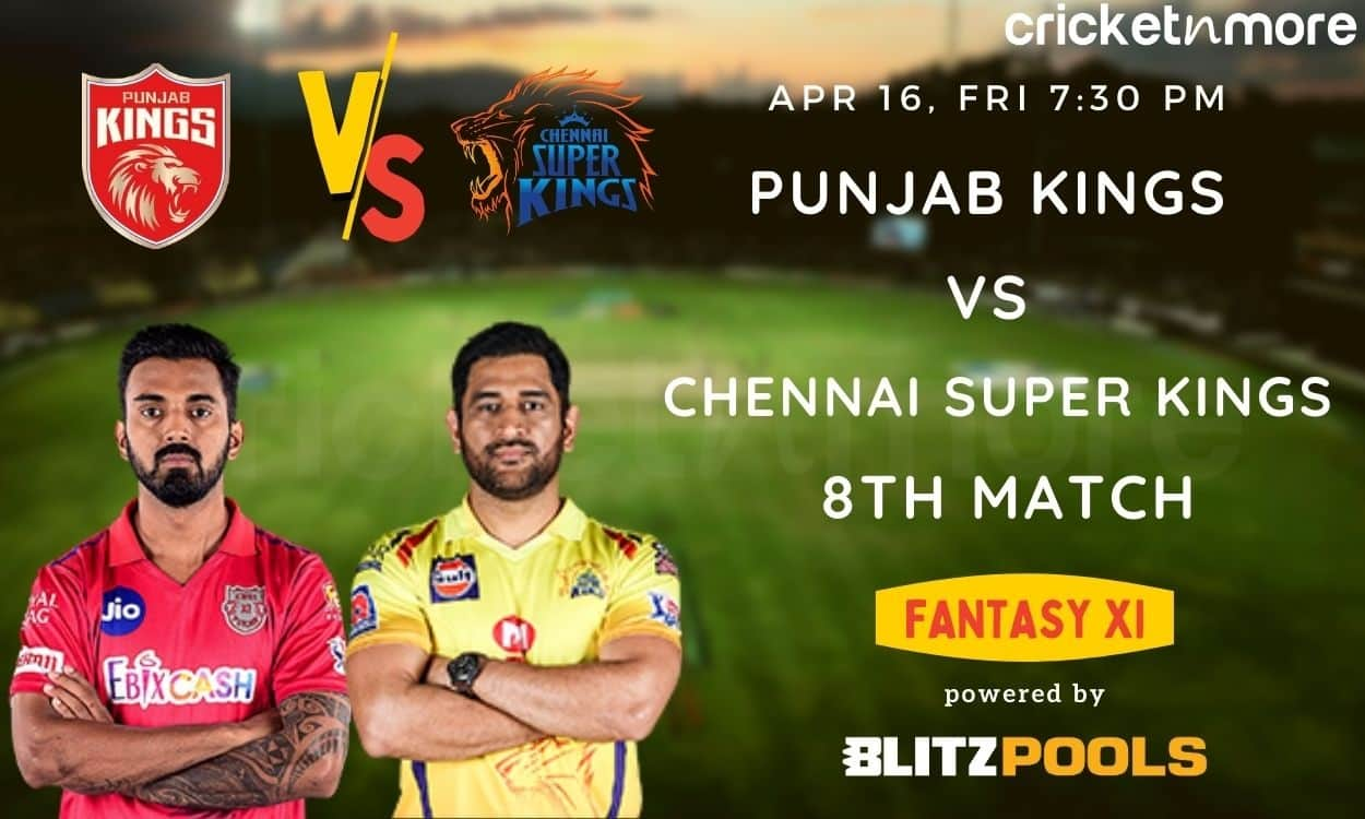 Cricket Image for IPL 2021 Punjab Kings vs Chennai Super Kings 8th Match – Blitzpools Fantasy XI Tip