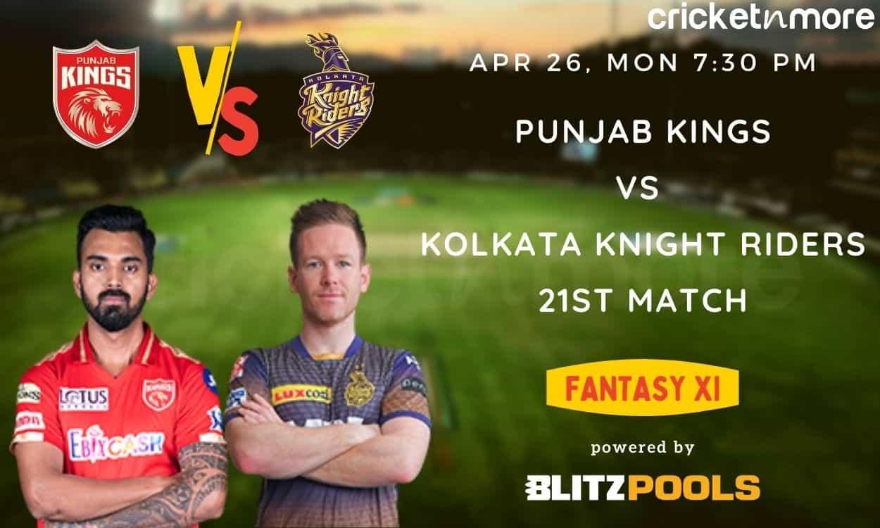 Cricket Image for IPL 2021, PBKS vs KKR – Blitzpools Fantasy XI Tips, Prediction & Pitch Report