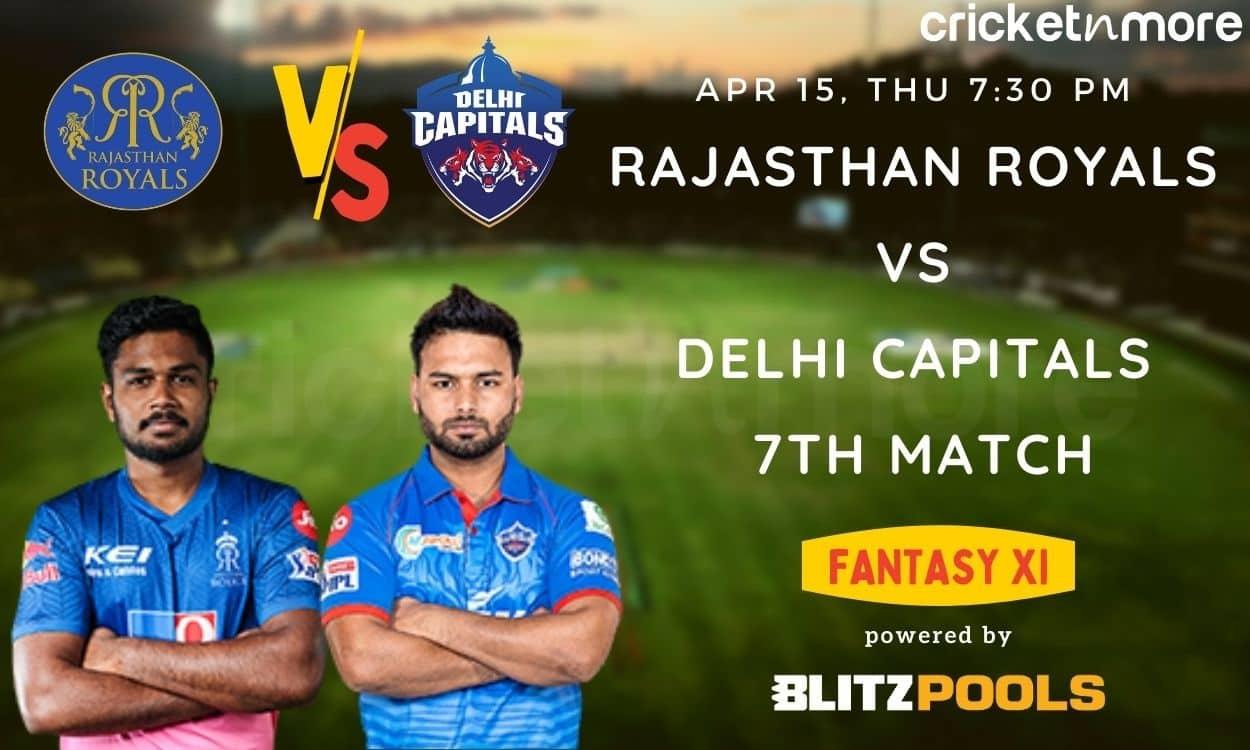 Cricket Image for IPL 2021, Rajasthan Royals vs Delhi Capitals, 7th Match – Blitzpools Fantasy XI Ti