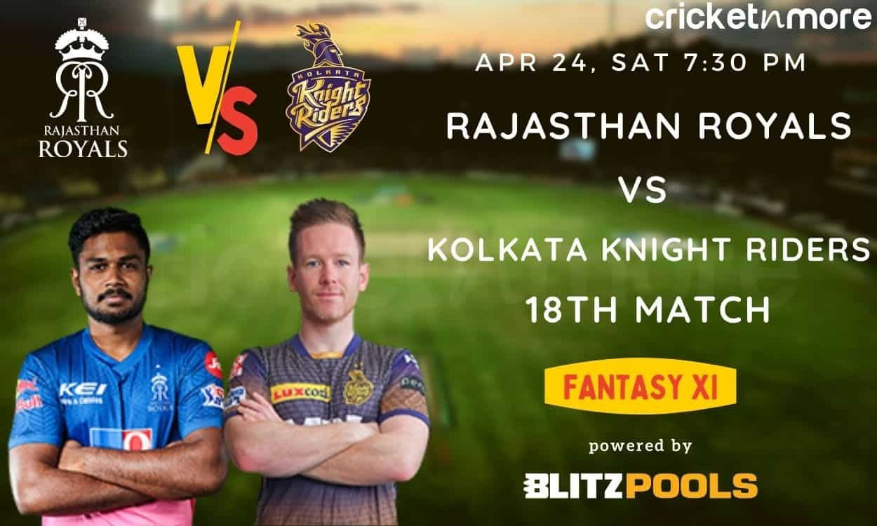 Cricket Image for IPL 2021, Rajasthan Royals vs Kolkata Knight Riders – Blitzpools Fantasy XI Tips,