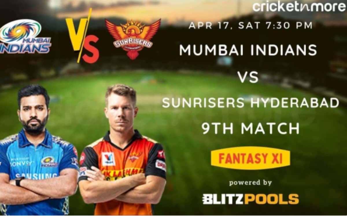 Cricket Image for IPL 2021 - ਮੁੰਬਈ ਇੰਡੀਅਨਜ਼ ਬਨਾਮ ਸਨਰਾਈਜ਼ਰਜ਼ ਹੈਦਰਾਬਾਦ, Blitzpools ਫੈਂਟੇਸੀ XI ਟਿਪਸ