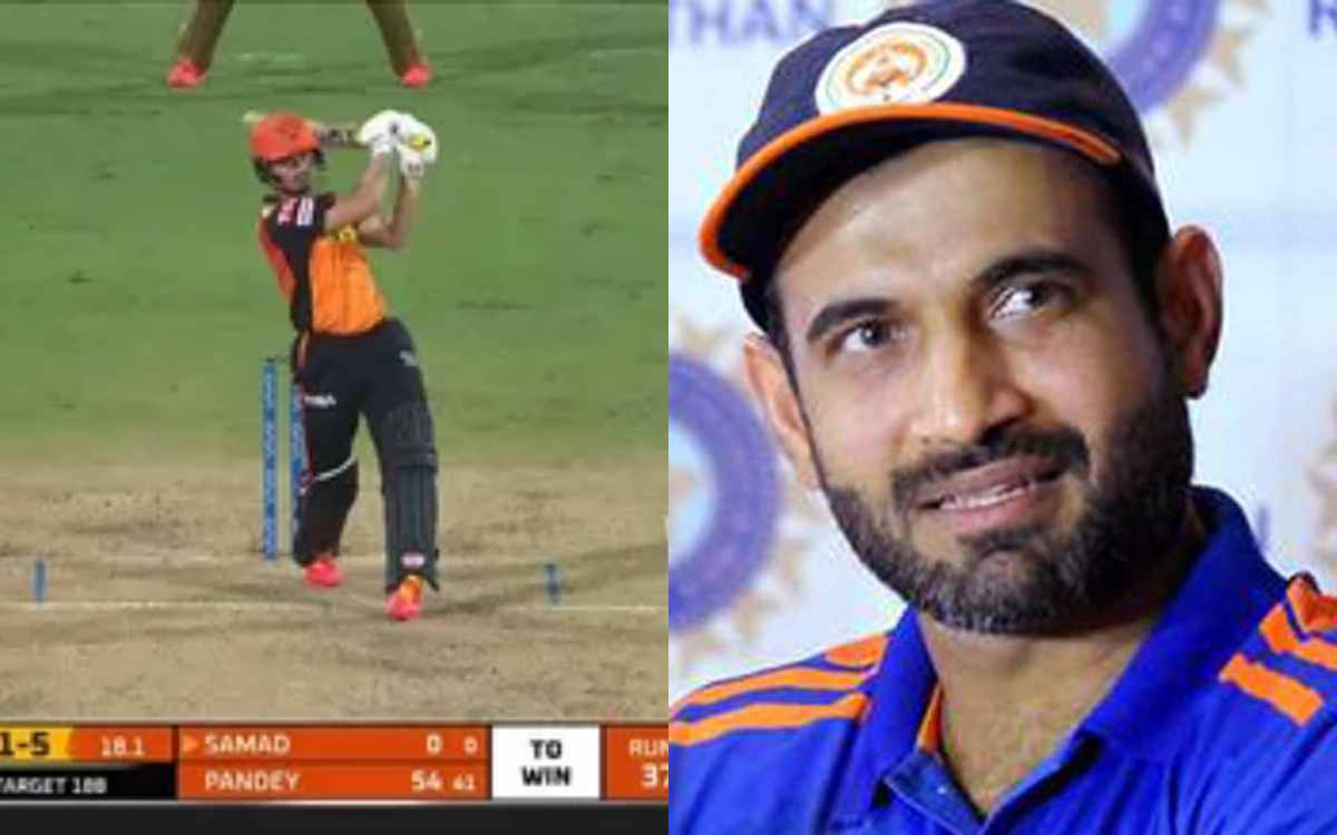 Cricket Image for 'अब्दुल समद को क्यों इतना नीचे क्यों भेजा गया ', इरफान पठान ने उठाए हैदराबाद के बल