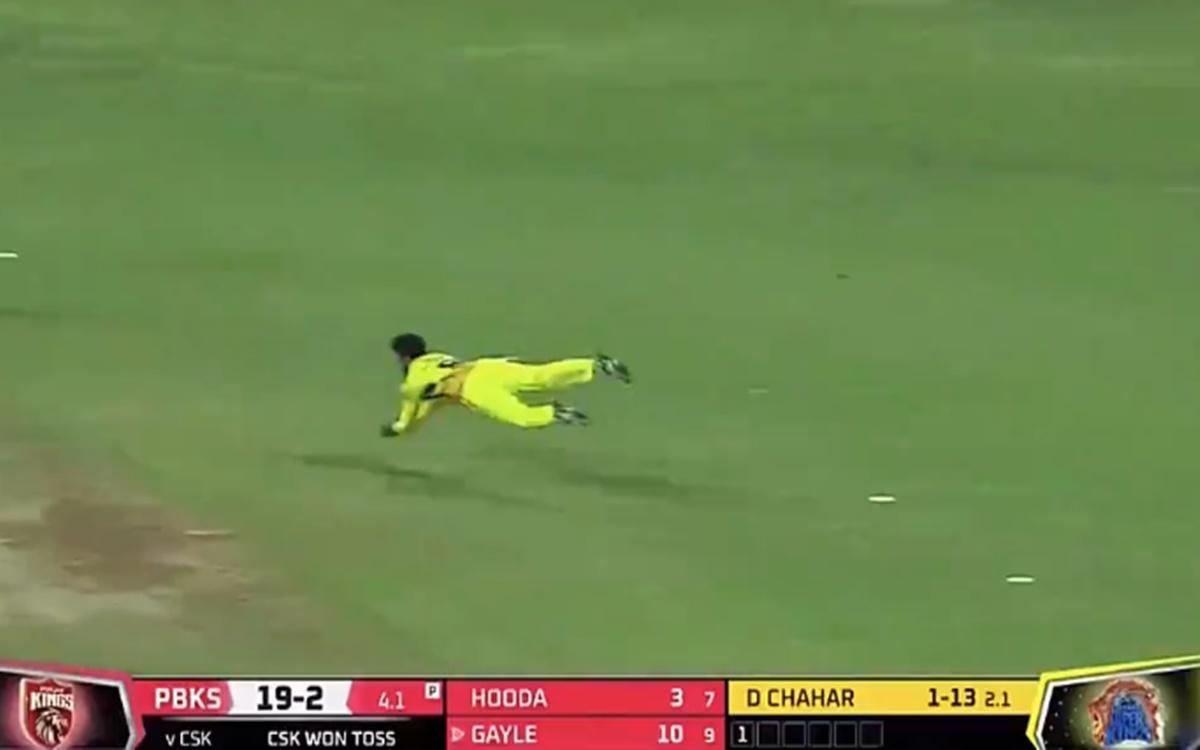 Cricket Image for Pbks Vs Csk Ipl 2021 Ravindra Jadeja Brilliant Fielding To Dismiss Chris Gayle