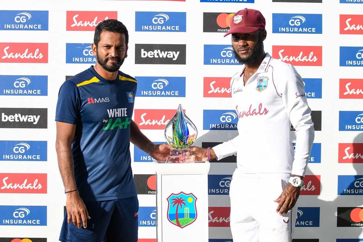 Cricket Image for 2nd Test Karunaratne, Fernando Help Sri Lanka Share Test Series Trophy With West