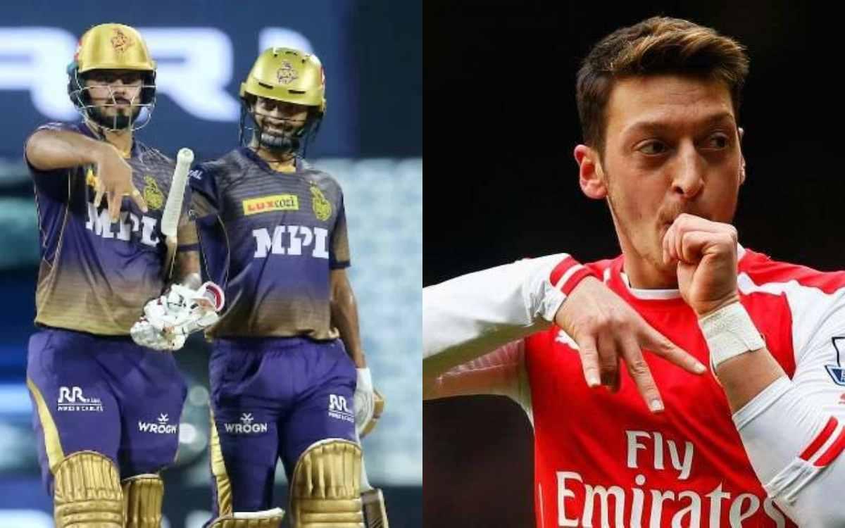 Cricket Image for फिफ्टी लगाने के बाद राणा ने किया 'जर्मन फुटबॉलर' की तरह सेलिब्रेशन, आतिशी पारी में