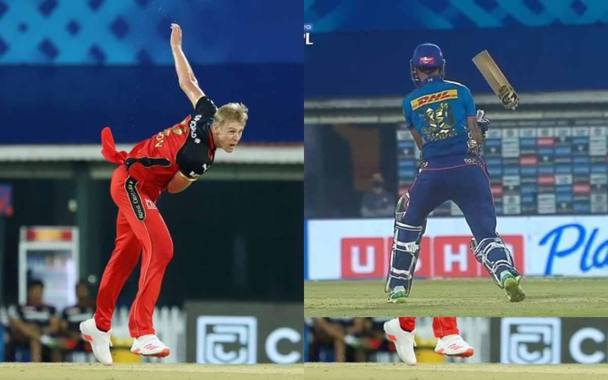 Cricket Image for VIDEO : अपने IPL डेब्यू पर काइल जैमीसन ने उगली आग, तेज़तर्रार यॉर्कर से तोड़ डाला