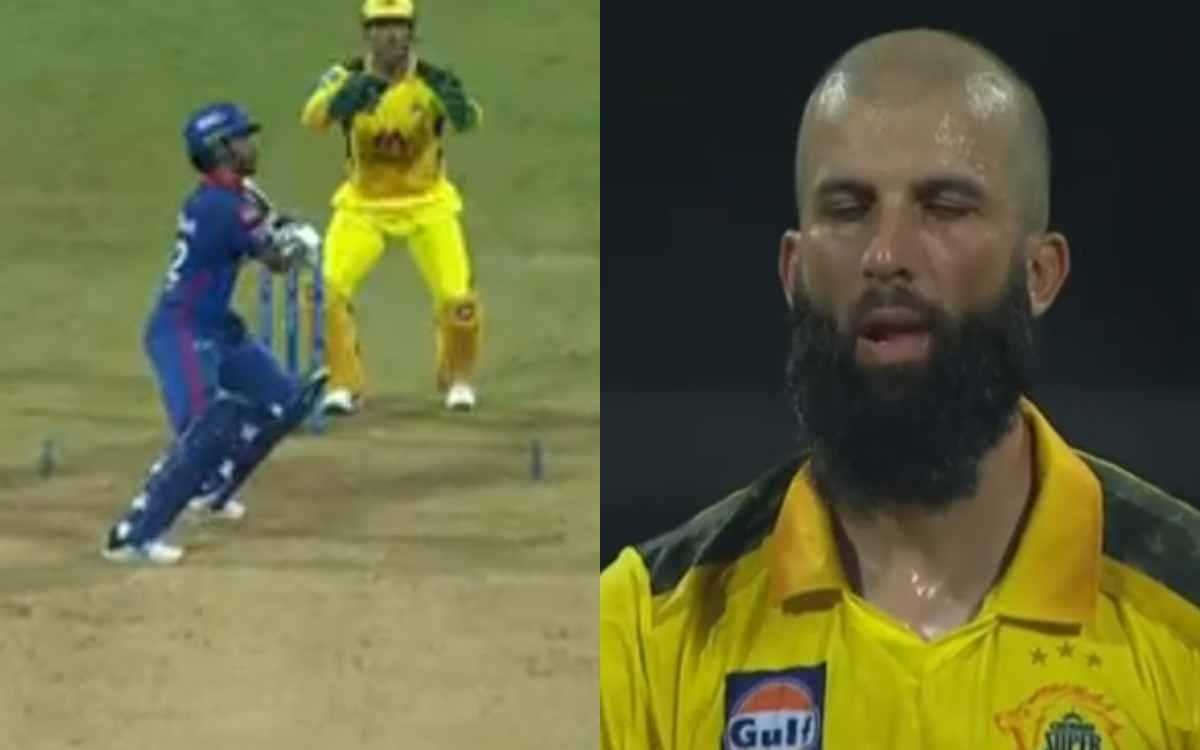 Cricket Image for VIDEO : जब विकेट के लिए तरसे सीएसके के बॉलर, तो मोईन अली ने डाली ऐसी बॉल; धोनी भी