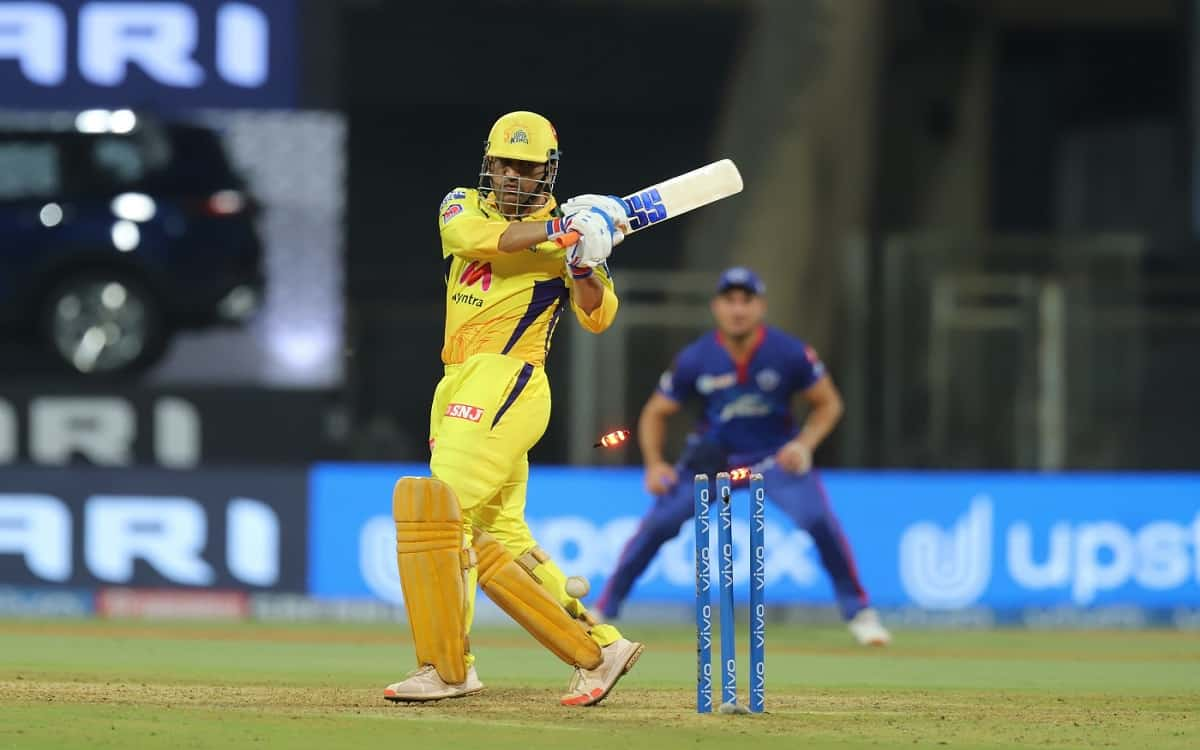Cricket Image for IPL 2021: Off-Colour MS Dhoni Falls For Second Ball Duck