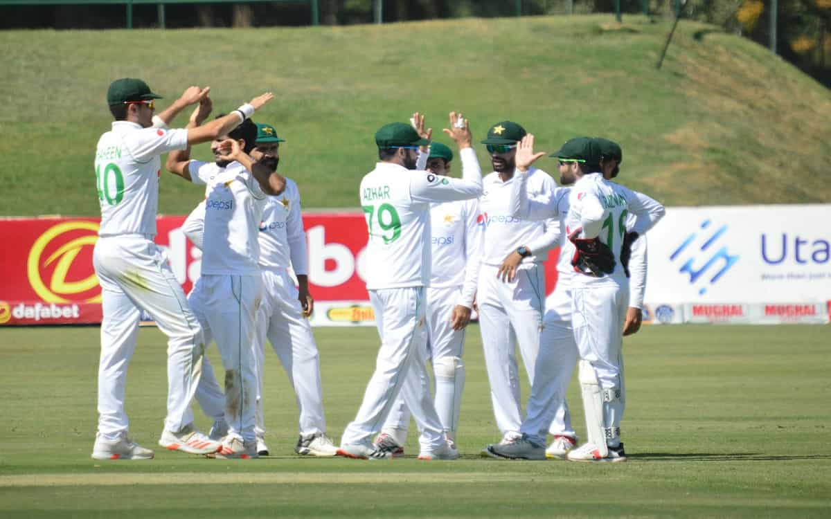 Cricket Image for ZIM vs PAK: Pakistan Dominate After Hasan Ali, Shaheen Afridi Skittle Zimbabwe