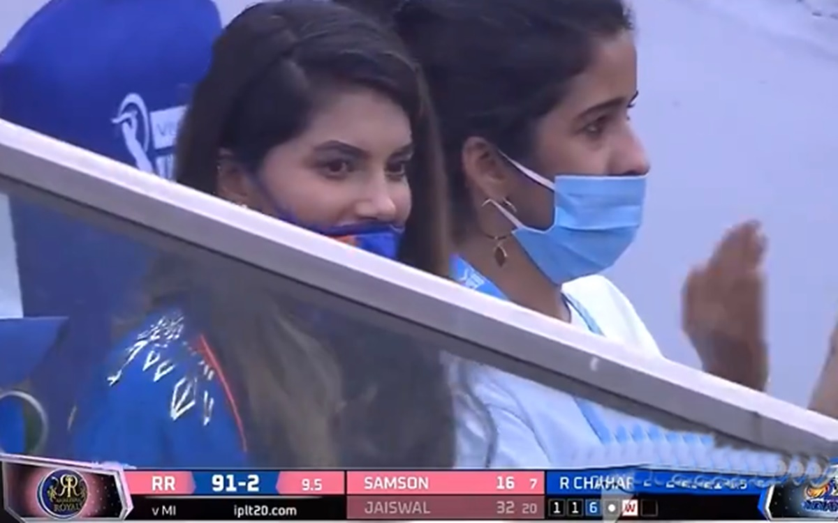 Cricket Image for Ipl 2021 Mumbai Indians Spinner Rahul Chahar Girlfriend Ishani Is In Limelight