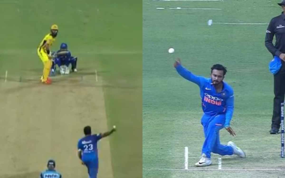Cricket Image for VIDEO : केदार जाधव के स्टाइल में बॉलिंग करते दिखे अश्विन, सीएसके के बल्लेबाज़ों ने